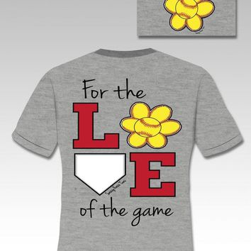 SALE Youth Kids Sassy Frass Funny Love of Game Softball Sweet Bright T Shirt