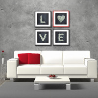 LOVE HOME DECOR, Typography home decor, Art Prints Collection, Set of (4)