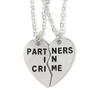 Partners In Crime BFF Necklace Set
