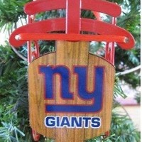 """NEW YORK GIANTS 4.0"""" CHRISTMAS SLED ORNAMENT NEW & OFFICIALLY LICENSED"""