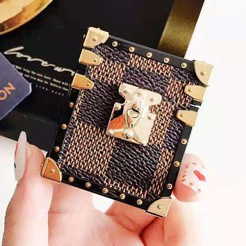 LV Louis Vuitton Newest Stylish iPhone Airpods Headphone Case Wireless Bluetooth Headphone Protector Case(No Headphones) 1#
