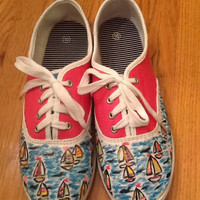 """Lilly Pulitzer Hand Painted Shoes """"You Gotta Regatta"""""""