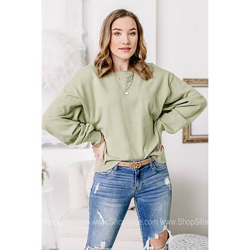 Keeping Up With It Soft Knit Top | Sage