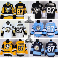 New 87 Sidney Crosby Jersey 2016 Champions Pittsburgh Penguins Ice Hockey Jerseys Final Patch Winter Classic Throwback Black Yellow White