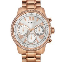 Rose Gold-Tone Classic Multifunction Watch at Guess