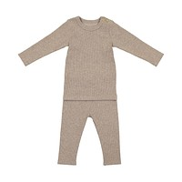 Lil Leggs Unisex-Baby Oatmeal Ribbed Set
