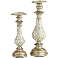 Mother-of-Pearl Pillar Stands