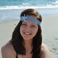 Blue Lace Starfish Headband