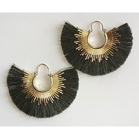 Bold Decision Earrings, Olive