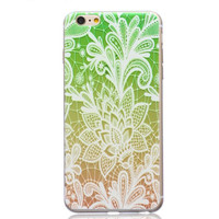 Green Ultrathin Transparent Lace iPhone 5se 5s 6 6s Case Originality Cover Gift