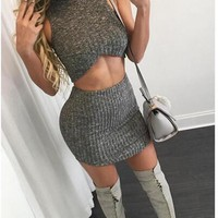 HOT TWO PIECE CUTE SEXY DRESS