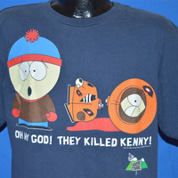 90s South Park Oh My God They Killed Kenny t-shirt Large