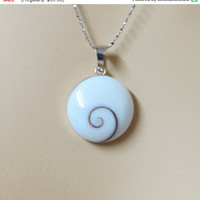 On SALE Beach Pendant, Mother Of Pearl Pendant, Sterling silver Shell pendant, Shell Necklace, Natural Inspierd, Unisex Pendant, Shiva ey...