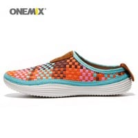 Onemix Men's Shoes Women Summer Loafer Slipper Sneakers For Couple Outdoor Comfortable Weaving  Light Sports Shoes Free Shipping