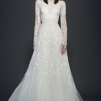 Lazaro Beaded A-Line Gown | Nordstrom