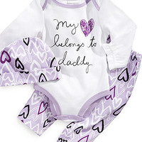 First Impressions Baby Set, Baby Girls 3-Piece Hat, Bodysuit and Pants