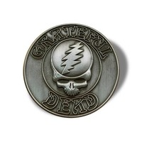 GRATEFUL DEAD PIN: Steal Your Face, Huge!, Rare, Vintage, Heavy, Pewter, Handmade, Jerry Garcia, Deadhead - Great Gift Idea!