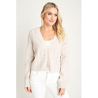 Jack by BB Dakota Ready & Cable Swirl Drop Needle Cardigan