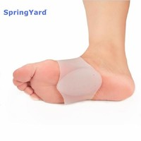 SpringYard Silicone Gel Plantar Fasciitis Arch Support Sleeve Bandage Flat Foot Orthopedic Belt Foot Care Insoles for Men Women