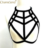 Chamsgend Bras Women Sexy Linegrie Hollow Strappy Halter Bralette Chest Lifting Bra Bustier 80129