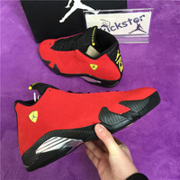 Air Jordan 14 Red Suede Ferrari