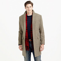 J.Crew Mens Ludlow Topcoat In Herringbone English Wool With Thinsulate