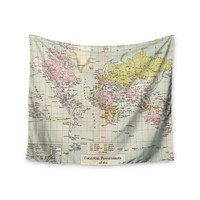 "Catherine Holcombe ""Travel"" World Map Wall Tapestry"