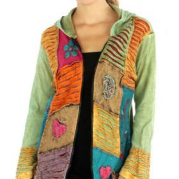 FALL WINTER SWEATSHIRT Jacket Hoddie Women's Summer Outwear wear for her Hippy Boho Gypsy Outwear