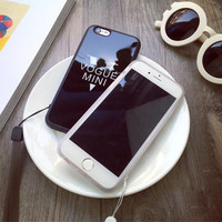 Simple fashion black and white powder couple mobile phone case for iphone 5 5s SE 6 6s 6plus 6s plus + Nice gift box!