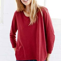 Truly Madly Deeply 3/4 Sleeve Cropped Tee-