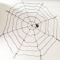 1.5m Halloween Black and White Spider Web with Spider for Graveyards Halloween Decorations