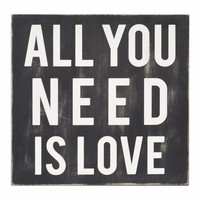 All You Need Is Love Wall Art