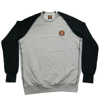 VARSITY COLORBLOCK L/S RAGLAN SWEATSHIRT GREY / BLACK