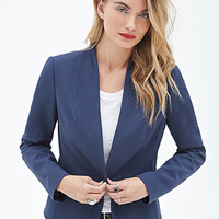 LOVE 21 Open-Front Collarless Blazer
