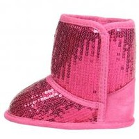 Girls Sequin Baby Boots by Stepping Stones