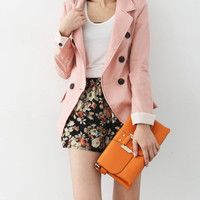 Coffee Time Blazer - Mexy  - New fashion clothing & accessories for smaller size women like you - Mexy Shop