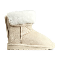 H&M - Lined Boots - Beige - Kids