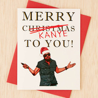 Seas And Peas Merry Kanye Holiday Card - Urban Outfitters