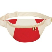 Yens® Fantasybag Eco-Green Fanny Pack-Red/Natural, FP-8511