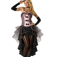 Halloween Costumes for Women Adult high qualityvegas PINK Sexy Burlesque Babe Dance Showgirl Costume,plus size S M L XL XXL