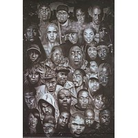 Hip Hop Hall of Fame Rap Gods Poster 24x36