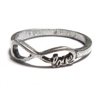 Brandy ♥ Melville |  Silver Infinity Love Ring - Rings - Jewelry - Accessories
