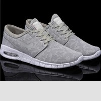 NIKE Trending Fashion Casual Sports Shoes Grey-4