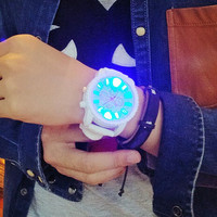 Casual Sports Light Up Silicone Strap Watch + Gift Box-465