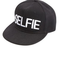 Selfie Embroidered Baseball Cap by Charlotte Russe - Black Combo