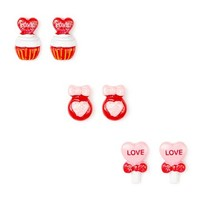 Valentine's Day Sweets Stud Earrings Set of 3 | Claire's