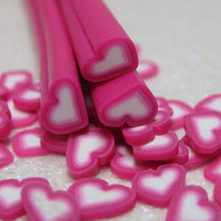 Discounted seconds rose hearts 3pcs polymer clay canes for decoden miniature foods and nail art supplies