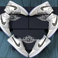 Nike x Dior AJ all-match ladies and men's casual shoes sports shoes