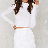 House of Cards Mia Frill Sleeve Skivvy Top