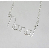 FREE SHIPPING!!!  Nana Wire Word Pendant Necklace